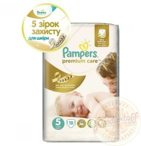 Подгузники Pampers Premium Care Junior 11-18кг 18шт/уп