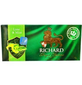 Чай зеленый Richard Lime&Mint 25*2г/уп