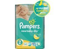 Подгузники Pampers New Baby-Dry Mini 3-6кг 68шт/уп