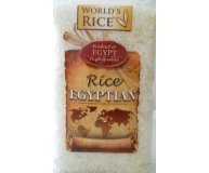 Рис World's rice круглозернистый шлифов.египетский 1кг