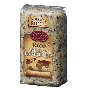 Рис World's rice дикий+парбоилд 900г