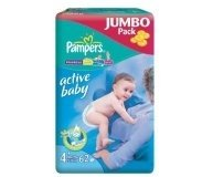 Подгузники Pampers Maxi+ Jumbo Pack 62шт/уп