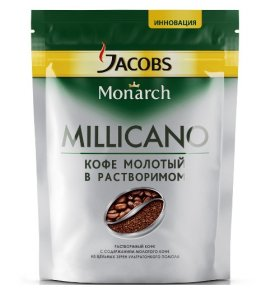Кофе растворимый Jacobs Monarch Millicano акція 250г