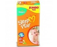 Подгузники Pampers Sleep&Play Jumbo Maxi 68шт/уп