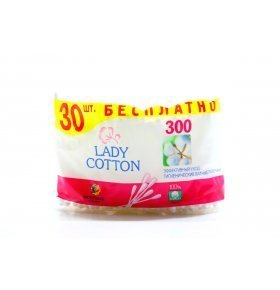 Палочки ватные Lady Cotton полит пакет 300шт/уп