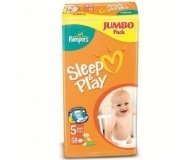 Подгузники Pampers Sleep&Play Jumbo Junior 58шт/уп