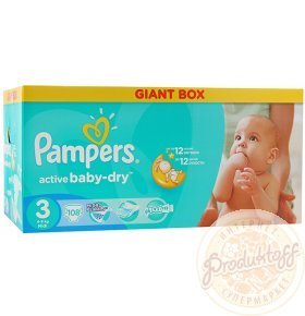 Подгузники Pampers Active Baby-Dry Midi 4-9кг 108шт/уп