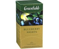 Чай черный Greenfield Blueberry Nights 25*1,5г/уп