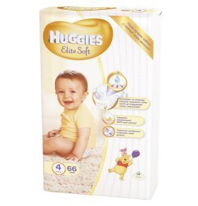 Подгузники Huggies Elite Soft 4 Mega 8-14кг 66шт/уп