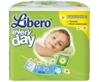 Подгузники Libero Everyday XL 11-25 кг 38шт/уп