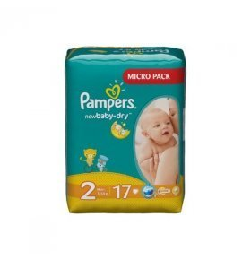 Подгузники Pampers New Baby-Dry Mini 3-6кг 17шт/уп