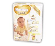 Подгузники Huggies Elite Soft 3 Mega 5-9кг 80шт/уп