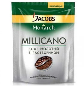 Кофе раств Jacobs Monarch Millicano натур экон.пак 70г