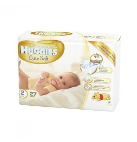 Подгузники Huggies Elite Soft 2 Conv 4-7кг 27шт/уп