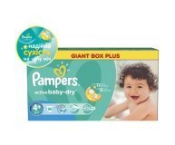 Подгузники Pampers Active Baby-Dry Maxi+ 9-16кг 96шт/уп