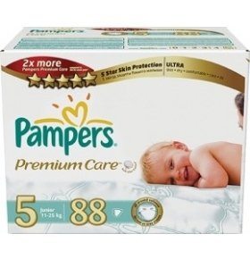 Подгузники Pampers Premium Care Junior 88шт/уп