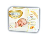Подгузники Huggies Elite Soft 1 Conv 2-5кг 27шт/уп