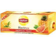 Чай черный Lipton Super Tasty Tropical Fruit 25*1,8г/уп