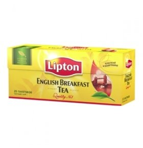 Чай черный Lipton English Breakfast 25*2г