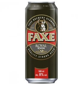 Пиво Faxe ROYAL Strong светлое ж/б 0,5л