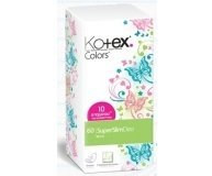 Прокладки Kotex Super Slim Deo Colors 50+10 шт
