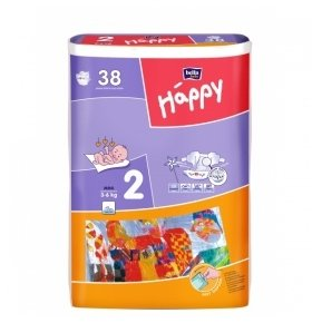 Подгузники Bella Happy Mini 3-6кг 38шт/уп