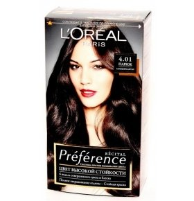 Краска д/волос L'oreal PREFERENCE Recital 4.01 Глуб. Каштан 1шт