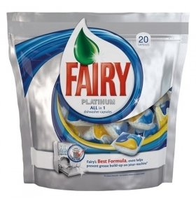 Капсулы мытья посуды Fairy Platinum All in1 в ПММ 20шт/уп