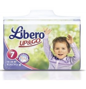Подгузники Libero Up&Go XL Plus 24шт/уп