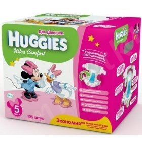HUGGIES ULTRA COMFORT 5 (12-22 KG) DISNEY BOX 105шт/уп