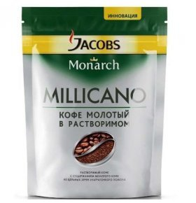 Кофе растворим Jacobs Monarch Millicano экон пакет 130г