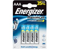 Элемент питания Maximum AAA Turbo Energizer 4 шт