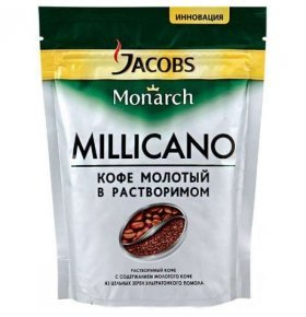 Кофе растворим Jacobs Monarch Millicano экон пакет 65г