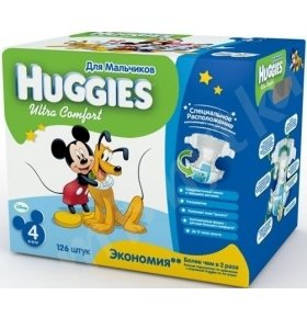 HUGGIES ULTRA COMFORT 4 (8-14 KG) DISNEY BOX  126шт/уп