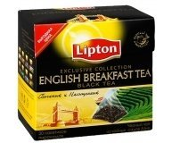 Чай Lipton English Breakfast tea черный 20*2г
