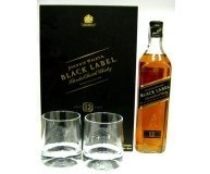 Виски Johnnie Walker Black Label + 2 стакана 0.7л