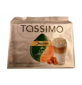 КОФЕ JACOBS TASSIMO MONARCH ЛАТТЕ КАРАМЕЛЬ р 475.2г