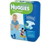 Подгузники HUGGIES Ultra Comfort BOY 4+ 10-16 кг 17 шт.