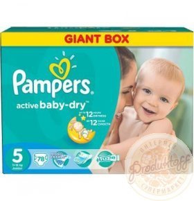 Подгузники Pampers Active Baby-Dry Junior 11-18кг 78шт/уп