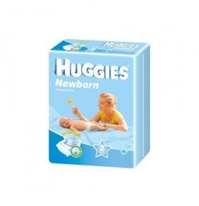 Подгузники Huggies Newborn 3-6кг 66шт/уп