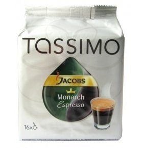 Кофе Jacobs Tassimo Monarch Эспрессо 128г