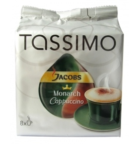 Кофе Jacobs Tassimo Monarch Капучино 264г