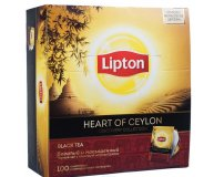 Чай черный Heart of ceylon Lipton 100 шт