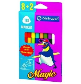 Фломастеры Centropen 2549 Magic 10шт/уп