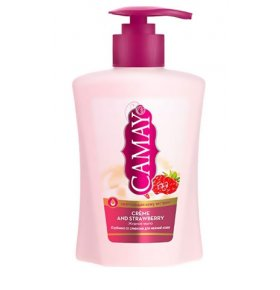 Мыло жидкое Camay Creme and Strawberry 225мл