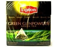 Чай Lipton Green Gunpowder 20пирамидок 20*1.8г