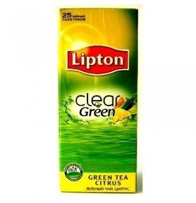 Чай Lipton Green Citrus 25*1.3г