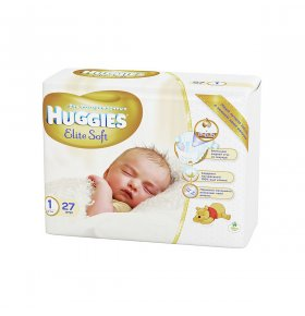Подгузники Huggies Elite Soft р.1+Elite Soft -20% 2*27шт/уп