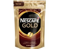 Кофе растворимый сублимированный Nescafe Gold 75 гр
