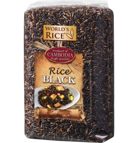 Рис World's rice черный 500г